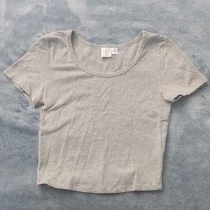 Nordstrom BP Grey T-Shirt Crop Top XS